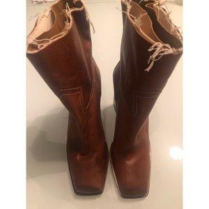 NEW Saint Laurent Leather Booties